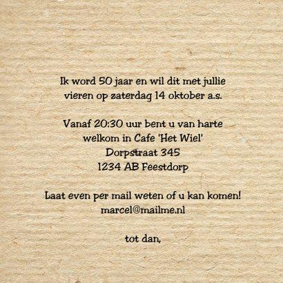 uitnodiging feest man foto kraft print  3