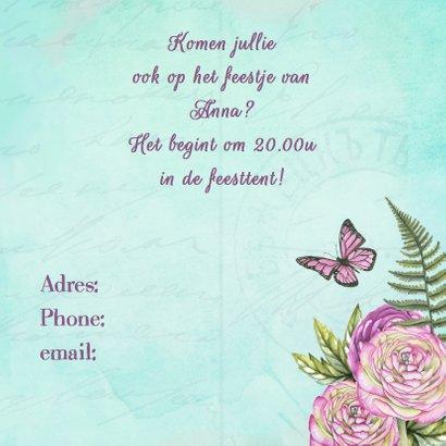 Uitnodiging feest ranonkel 3
