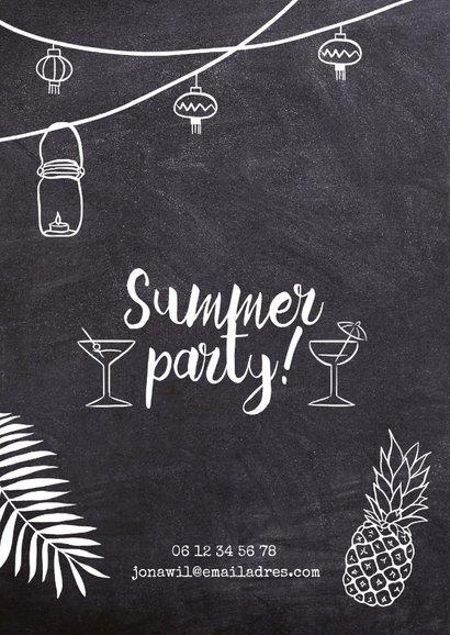 Uitnodiging feest Summer Party krijtbord 2