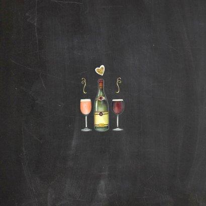Uitnodiging feest wijn Achterkant