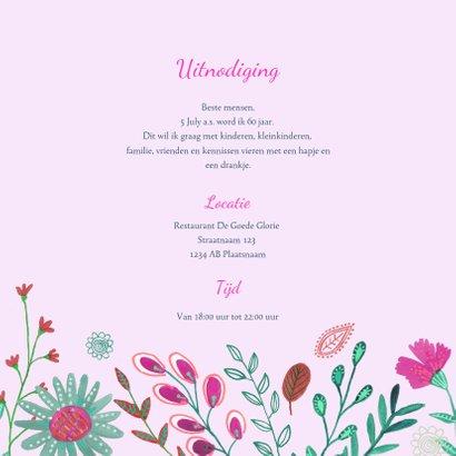Uitnodiging Feestje Bloemen Botanisch 60 3