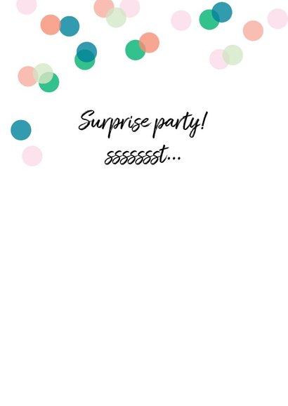 Uitnodiging feestje eigen foto confetti 2