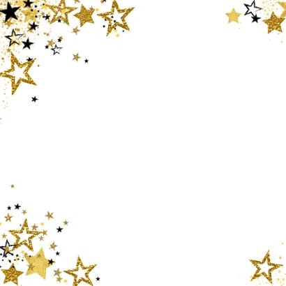 Uitnodiging feestje moderne feestelijke foto kaart sterren 2