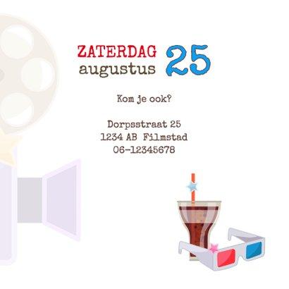Uitnodiging filmfeestje  3