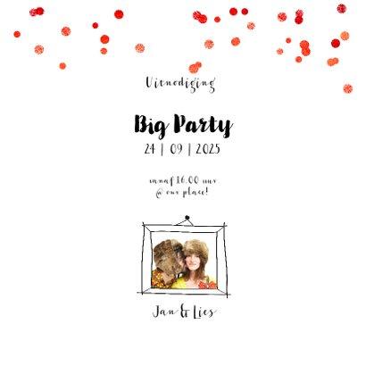Uitnodiging foto collage kind feest 3