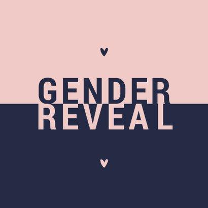 Uitnodiging gender reveal modern typografisch 2