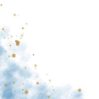 Uitnodiging gender reveal party met gouden confetti 2