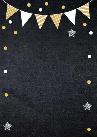 Uitnodiging geslaagd feest foto slinger confetti 2
