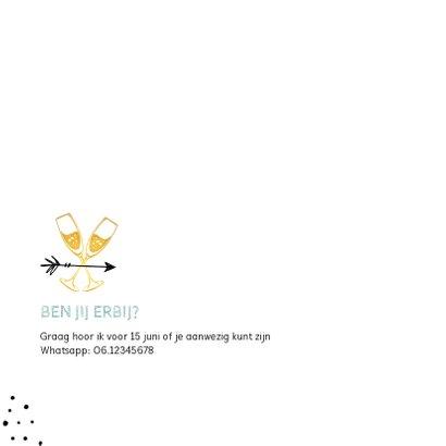 Uitnodiging geslaagd hip confetti goud foto  2