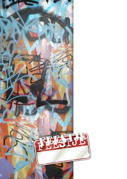 Uitnodiging graffiti gezocht examenfeest puber 2