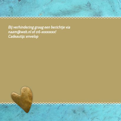 uitnodiging hart turquoise 2