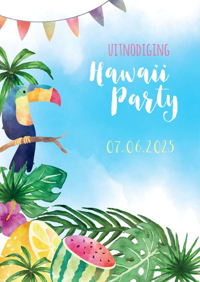 Uitnodiging Hawaii Party 2