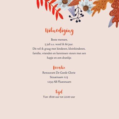 Uitnodiging herfstfeest oranje bladeren 3