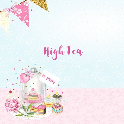 Uitnodiging High Tea stolp taartjes 2