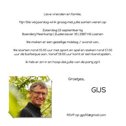 Uitnodiging hippe Wegwijzer 4 verkeersbord 3