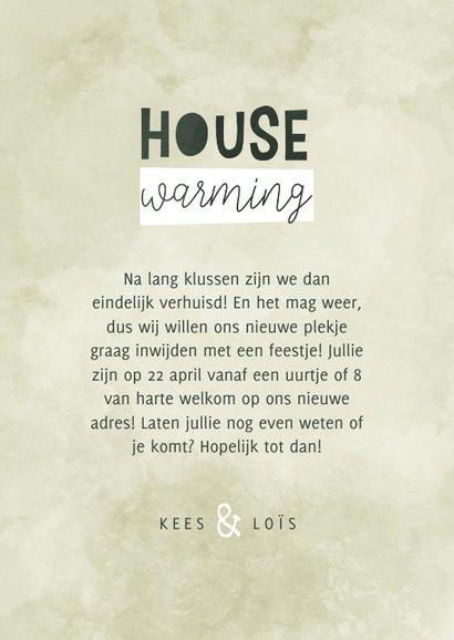 Uitnodiging housewarming met verhuisdoos en plantjes 3