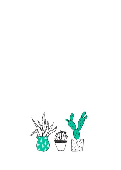Uitnodiging housewarming party cactussen planten 2