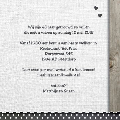 uitnodiging hout design - krijtbord hart 3