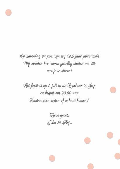 Uitnodiging huwelijk jubileum 12,5 jaar 3