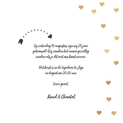 Uitnodiging huwelijk jubileumfeest 25 jaar ballon 3