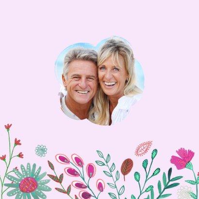Uitnodiging Huwelijks jubileum 25 jaar bloemen 2
