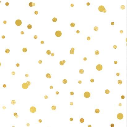 Uitnodiging huwelijks jubileum ballonnen goud 2