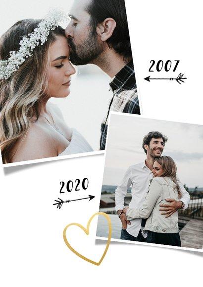Uitnodiging huwelijksjubileum 12,5 jaar - fotocollage 2