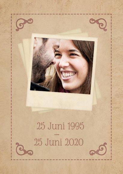 Uitnodiging jubileum klassieke poster 25 jaar getrouwd  2