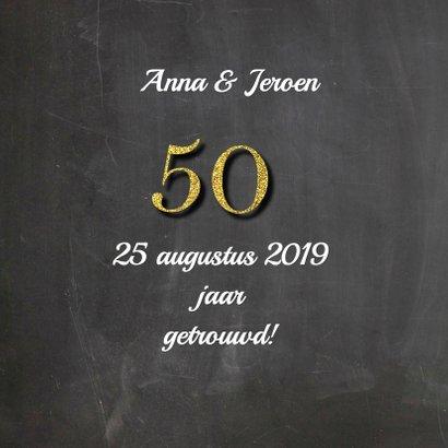 Uitnodiging jubileum vijftig 2