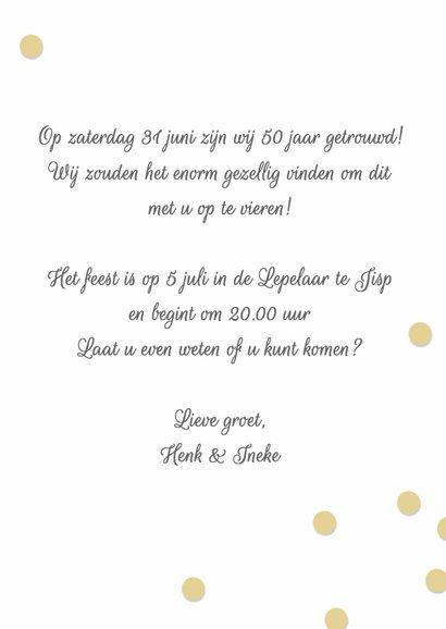 Uitnodiging jubileumhuwelijk 50 jaar 3