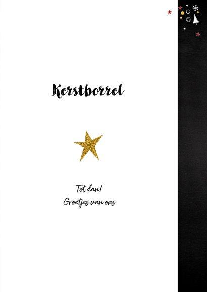 Uitnodiging 'kerst' borrel trendy typografische kaart 3