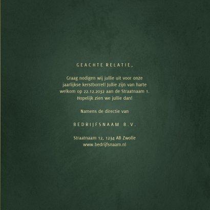 Uitnodiging kerstborrel gouden tekst met sterren 3