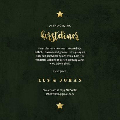 Uitnodiging kerstdiner jungle bladeren met lampjes 3