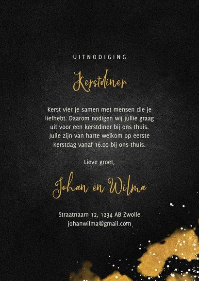 Uitnodiging kerstdiner met gouden bestek 3