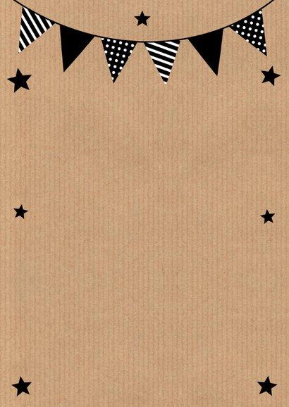 Uitnodiging kinderfeestje fotocollage slinger kraftprint 2
