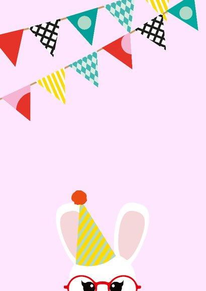 Uitnodiging kinderfeestje konijn 2