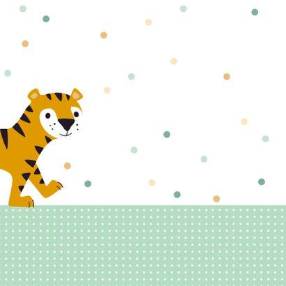 Uitnodiging kinderfeestje lieve tijger 2