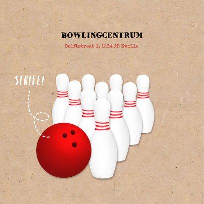 Uitnodiging kinderfeestje thema bowlen unisex 2