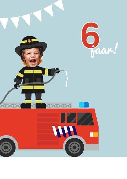 Uitnodiging kinderfeestje tweeling brandweer 2