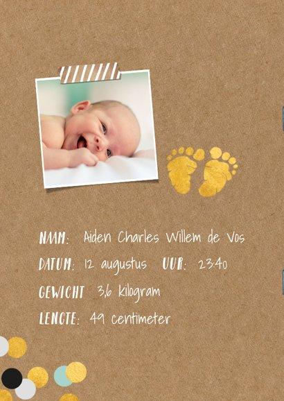 Uitnodiging kraamfeest baby jongen paspoort 2