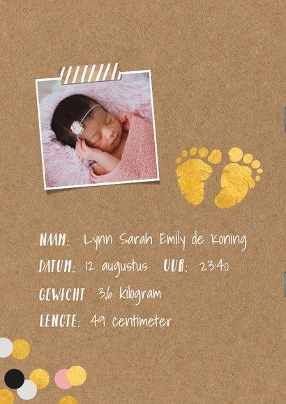 Uitnodiging kraamfeest baby meisje paspoort 2
