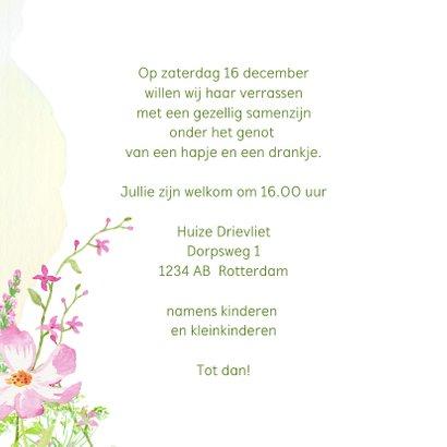 Uitnodiging krans met veldbloemen 3