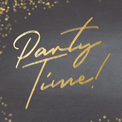 Uitnodiging krijtbord Party Time! 2