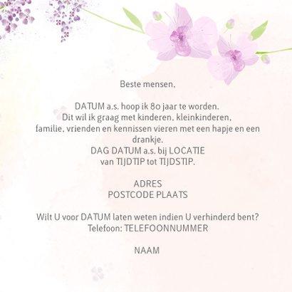 Uitnodiging leeftijd orchidee en seringen 3