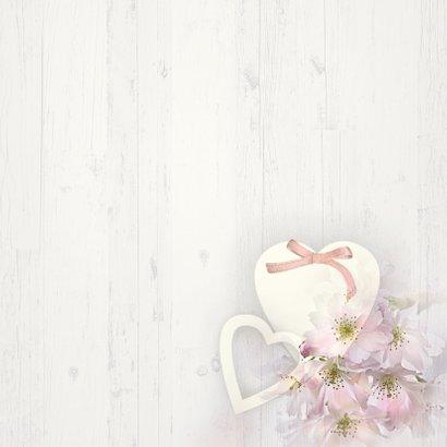 Uitnodiging lentebloesem op hout 3