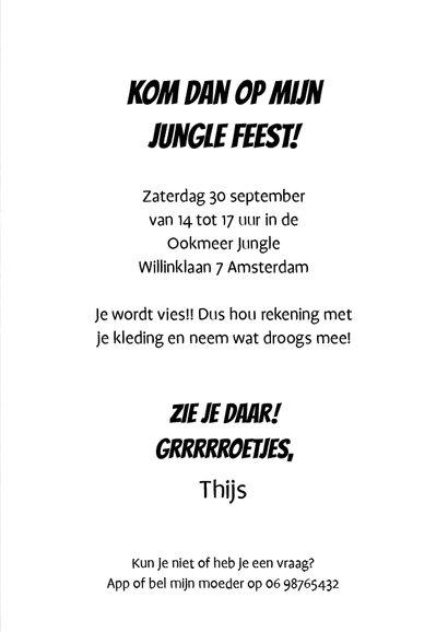 Uitnodiging Loeki Junglefeest - A 3