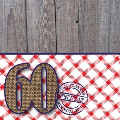Uitnodiging man 60 stoer 2