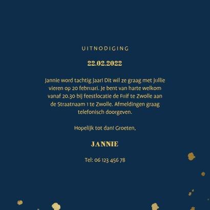 Uitnodiging met gouden confetti en aanpasbare kleur 3