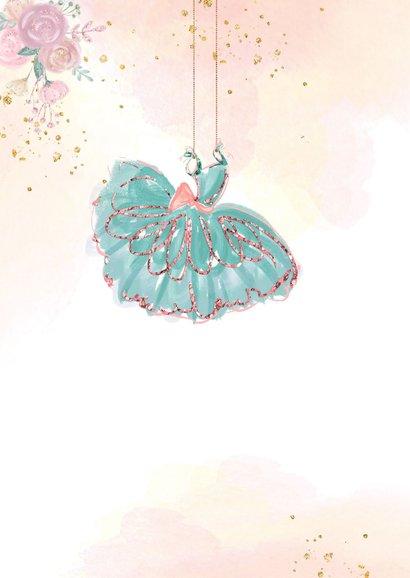 Uitnodiging met prinses balletmeisje 2