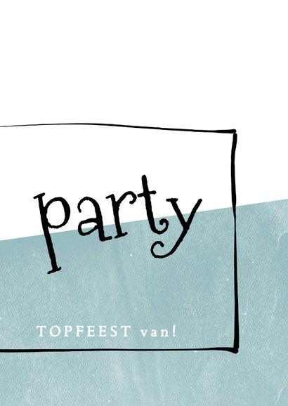Uitnodiging modern, met foto en speelse typografie 3